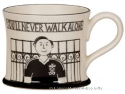 Moorland Pottery Scouser Ware Kopite Mug