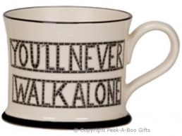 Moorland Pottery Scouser Ware You'll Never Walk Alone Mug