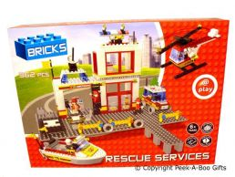 Building Block Bricks Rescue Services 362pc Large Gift Set