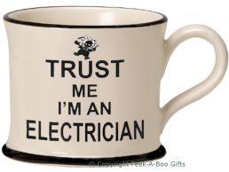 Moorland Pottery Trust Me I'm an Electrician Mug