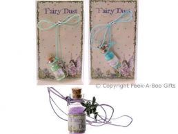 Magical Fairy Dust in Bottle & Pewter Fairy Pendant on Cord Series 1