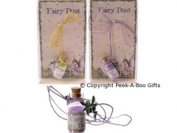 Magical Fairy Dust in Bottle & Pewter Fairy Pendant on Cord Series 2