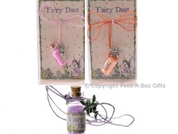 Magical Fairy Dust in Bottle & Pewter Fairy Pendant on Cord Series 3