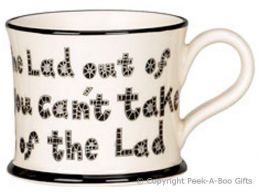 Moorland Pottery Yorkie Ware Lad Out of Yorkshire Mug