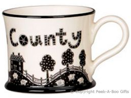 Moorland Pottery Yorkie Ware God's Own County Mug