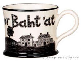 Moorland Pottery Yorkie Ware On Ilkley Moor Baht'at Mug