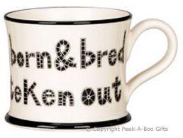 Moorland Pottery Yorkie Ware Yorkshire Born & Bred Mug