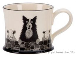 Moorland Pottery Yorkie Ware York Sheep Dog Mug