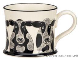 Moorland Pottery Yorkie Ware Yorkie Cow Mug