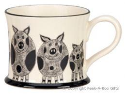 Moorland Pottery Yorkie Ware Yorkie Pig Mug
