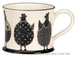 Moorland Pottery Yorkie Ware Yorkie Chicken Mug