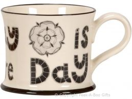 Moorland Pottery Yorkie Ware Every Day is Yorkshire Day Mug