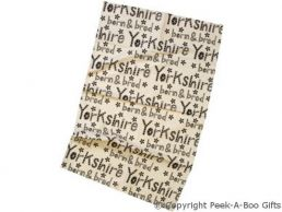 Moorland Pottery Yorkie Ware Cotton Tea Towel Yorkshire Born & Bred