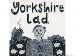 Greeting-Birthday Card Moorland Pottery Yorkie Ware Yorkshire Lad - Plain Inside