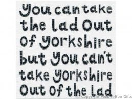 Greeting-Birthday Card Moorland Pottery Yorkie Ware Lad Out of Yorkshire - Plain Inside