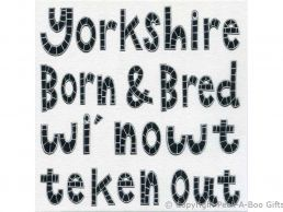 Greeting-Birthday Card Moorland Pottery Yorkie Ware Yorkshire Born & Bred - Plain Inside
