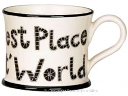 Moorland Pottery Yorkie Ware T' Best Place in T' World Mug