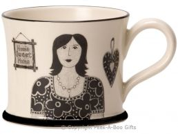 Moorland Pottery Yorkie Ware T' Best Mum in T' World Mug