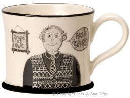 Moorland Pottery Yorkie Ware T' Best Grandad in T' World Mug