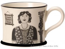 Moorland Pottery Yorkie Ware T' Best Grandma in T' World Mug