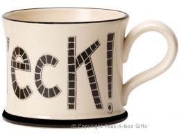 Moorland Pottery Yorkie Ware Flippin Eck Mug