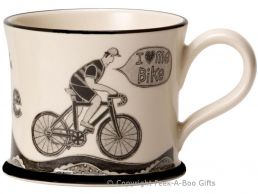 Moorland Pottery Yorkie Ware I Love Me Bike Mug