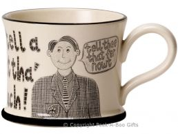 Moorland Pottery Yorkie Ware Tha' Can't Tell 'im Much Mug