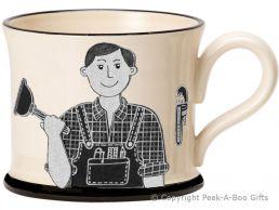 Moorland Pottery Yorkie Ware Yorkshire's Best Plumber Mug