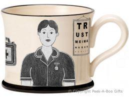 Moorland Pottery Yorkie Ware Yorkshire's Best Nurse Mug