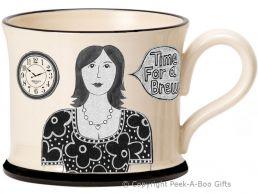 Moorland Pottery Yorkie Ware Yorkshire's Best Boss Mug Female