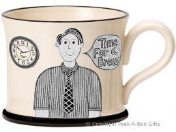 Moorland Pottery Yorkie Ware Yorkshire's Best Boss Mug Male