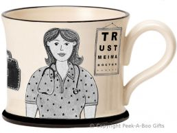 Moorland Pottery Yorkie Ware Yorkshire's Best Doctor Mug Female
