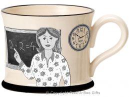 Moorland Pottery Yorkie Ware Yorkshire's Best Teacher Mug Female