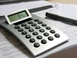 Arched Desk Calculator Dual Power