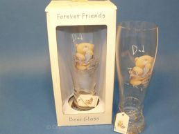 Forever Friends Dad Gift Lager Beer Glass