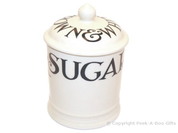 Emma Bridgewater Black Toast 1 Pint Sugar Storage Jar with Seal