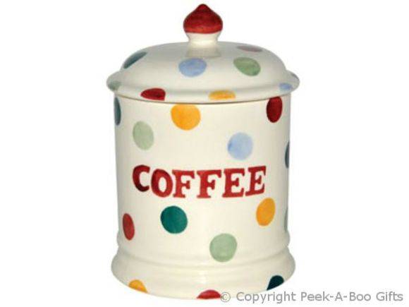 Emma Bridgewater Polka Dot 1 Pint Coffee Storage Jar with Seal