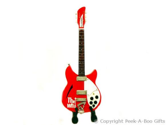 The Who Rickenbacker Style Miniature Guitar by Baby Axe 10""