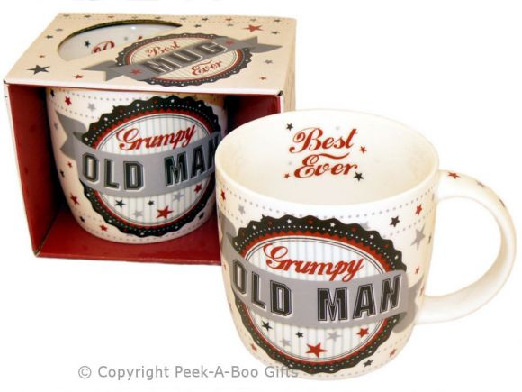 Best Grumpy Old Man Ever Fine Bone China Mug Rosette Design