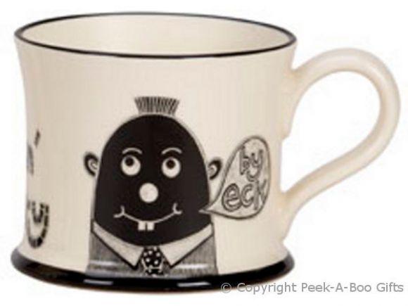Moorland Pottery LancashireWare Gi'me Black Puddin Mug