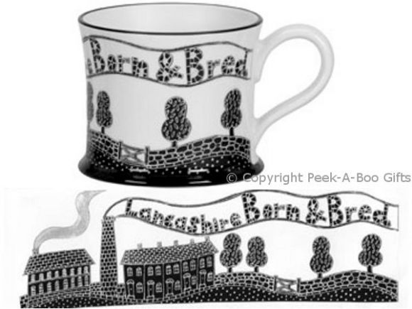 Moorland Pottery LancashireWare Lancashire Born & Bred Mug