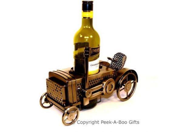 Metal Novelty Tractor Shaped Wine or Spirit Bottle Holder by Leonardo