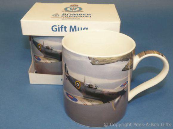 Bomber Command Spitfire Fine China Mug by Leonardo