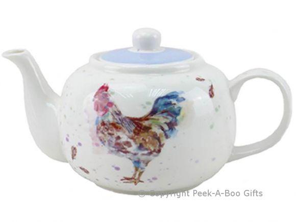 Leonardo Country Cockerel Fine China Teapot by Jennifer Rose