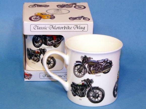Classic British Motorbikes Bone China Boxed Mug by Leonardo