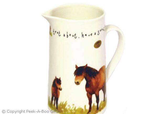 The Leonardo Collection COCKEREL HORSES Fine China Mug