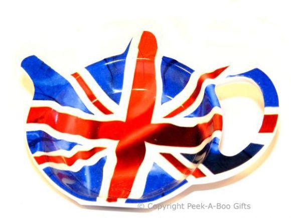 British Union Jack Flag Melamine Teabag Holder by Leonardo