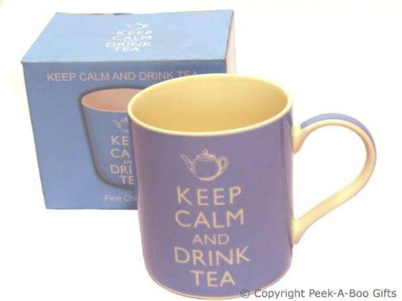 Keep Calm (& Carry On) & Drink Tea Fine Bone China Mug by Leonardo
