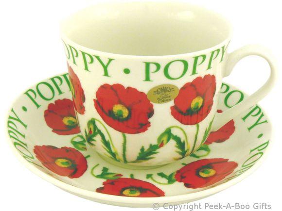 Leonardo Flower Garden Collection Poppy China Jumbo Cup & Saucer