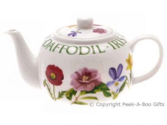 Leonardo Flower Garden Collection Fine China Teapot Traditional Shaped